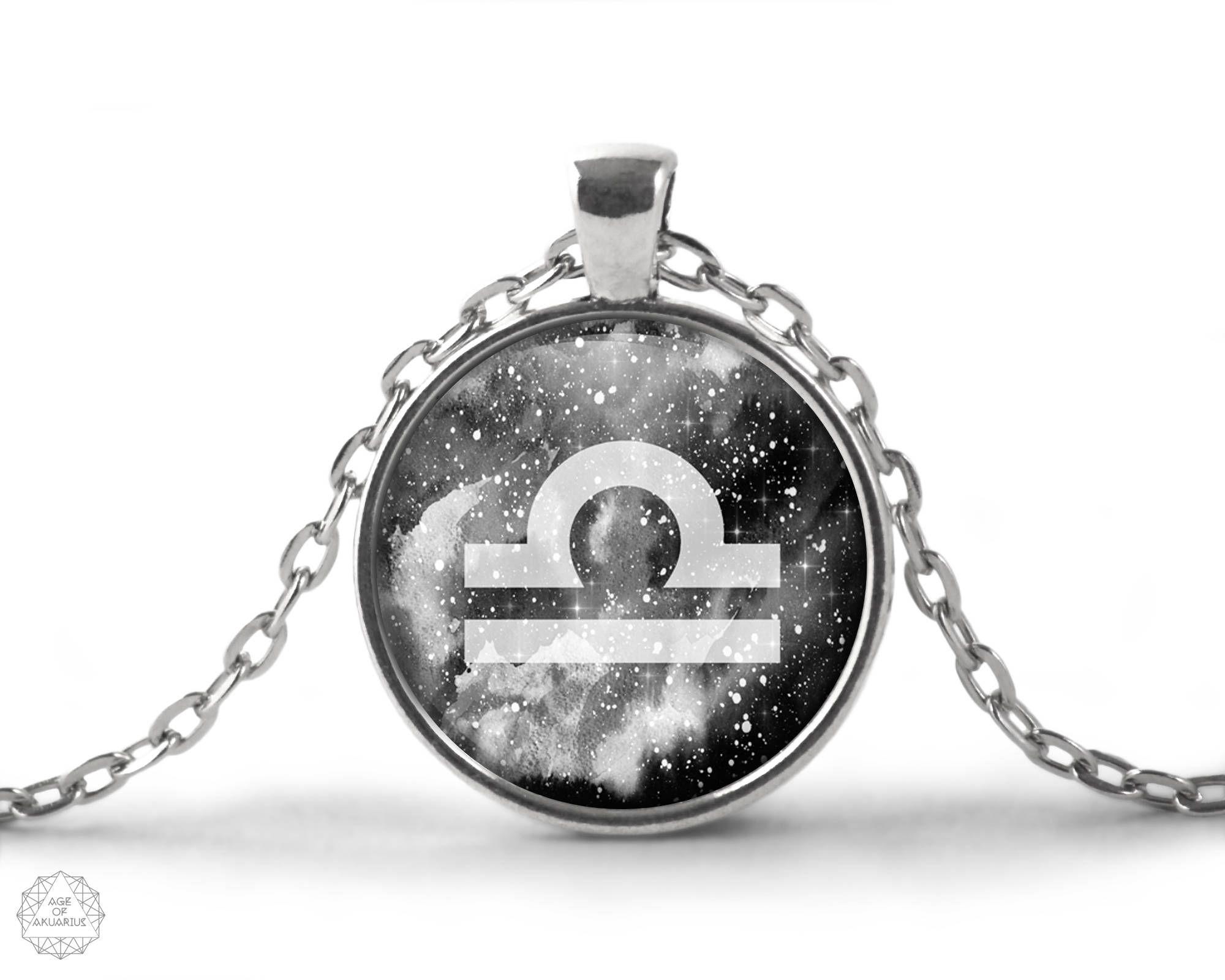 Libra zodiac pendant necklace libra necklace zodiac necklace