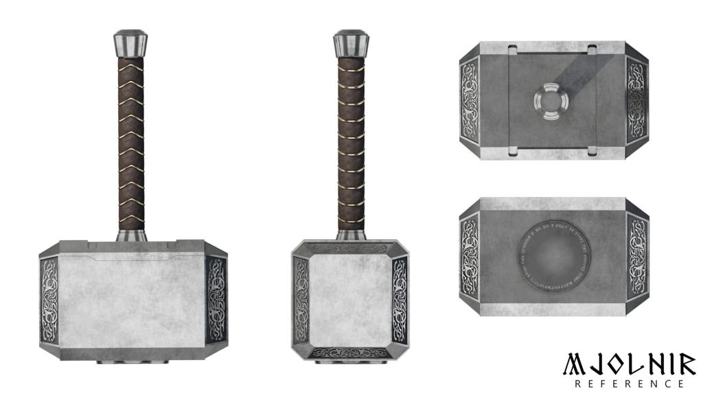 Image Result For Thor Front And Side Reference Thors Hammer Mjolnir Thor