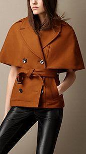 Felted Wool Cape Jacket
