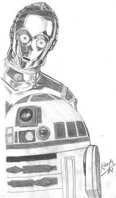 Dibujo de C3PO y R2D2 | Star wars drawings, Star wars art ...R2d2 And C3po Drawing