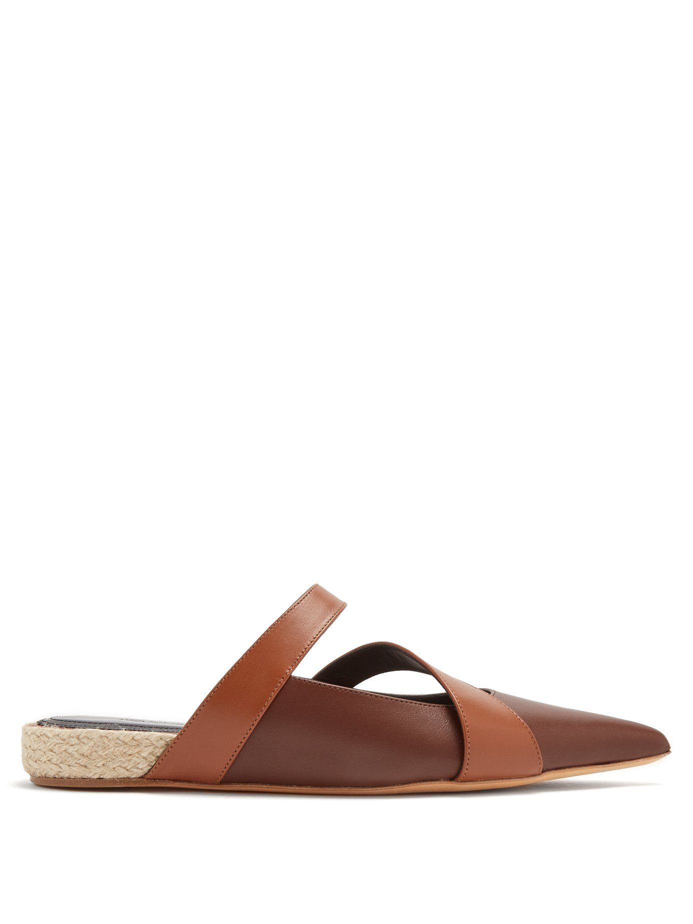 J.W.Anderson Point-toe leather backless ballet flats Shop For Cheap Price kXZKDz8j4