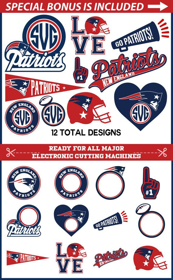 Patriots SVG, New England Patriots svg Cut files for Cricut ...