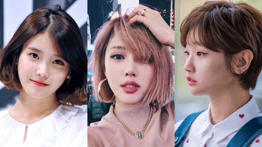Bob Hairdos As Seen On Your Favourite Korean Stars In 2020 Bob Hairstyles Hairstyles For Thin Hair Hair Styles