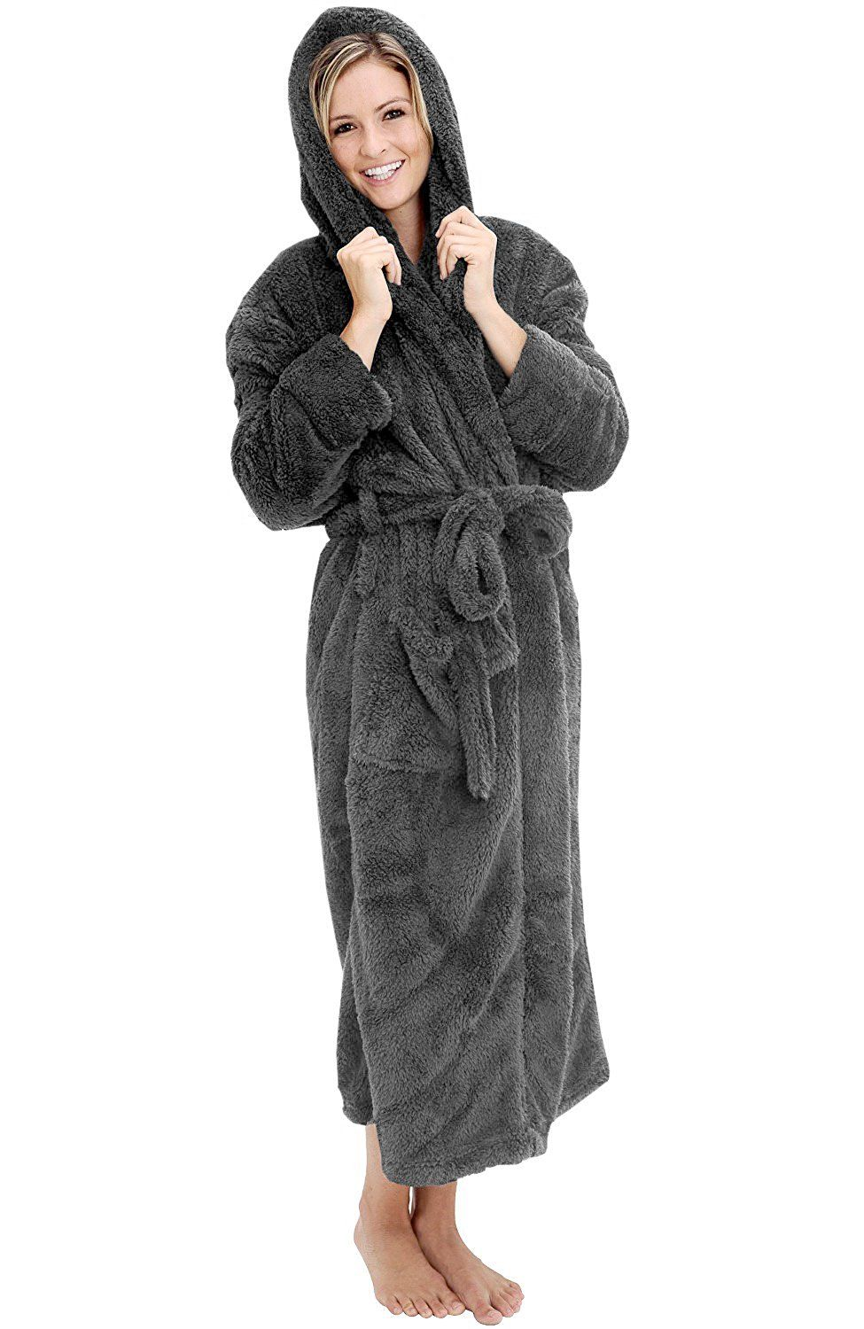 Alexander Del Rossa Womens Fleece Robe 095846c61