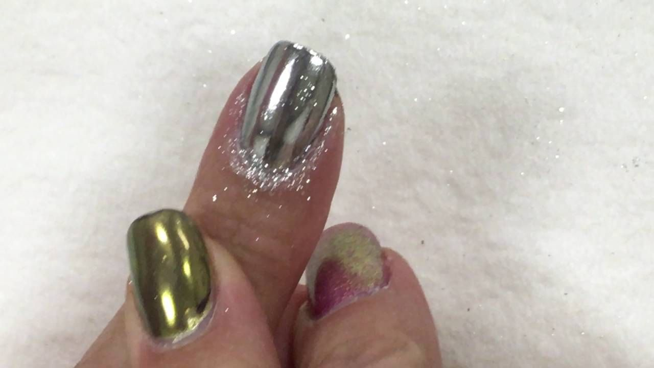 Chrome Nails with NO SHIMMER   finger nails and toe nails ...