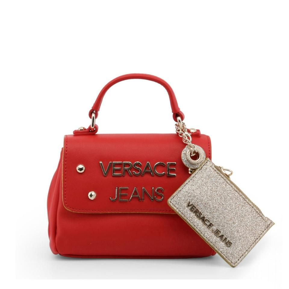 Versace Jeans Collection | Handbag Red Faux Leather Satchel