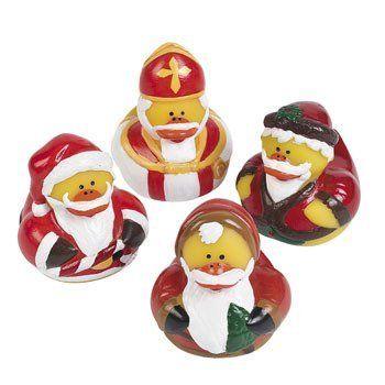 12 Vintage St Nick Santa Christmas Santa Rubber Ducks By