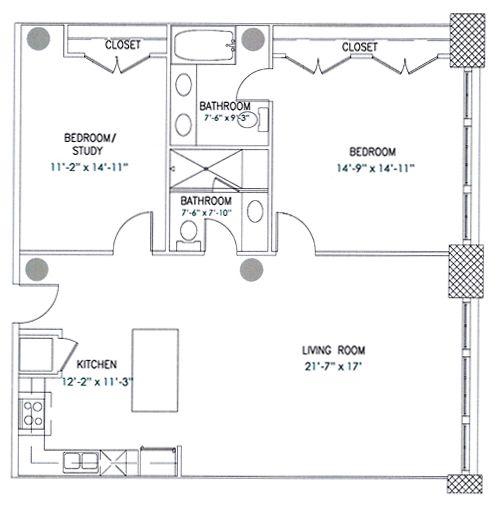 City View Lofts Floor Plan Barnum Loft Style Living Floor Plans City View