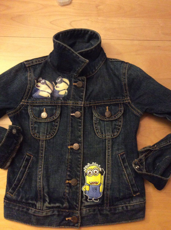 9f7d96e1eb8e Boys Girls Minion Jean Jacket-denim jacket-made to order-Disney ...