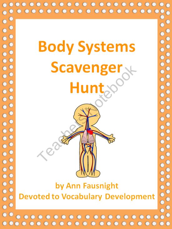 Body Systems Scavenger Hunt Pinterest Muscular System Body