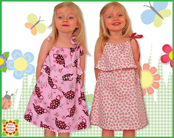 SillyMilly Pillowcase Sundress Girls Dress PATTERN Sewing Patterns for Children Toddler PDF Instant
