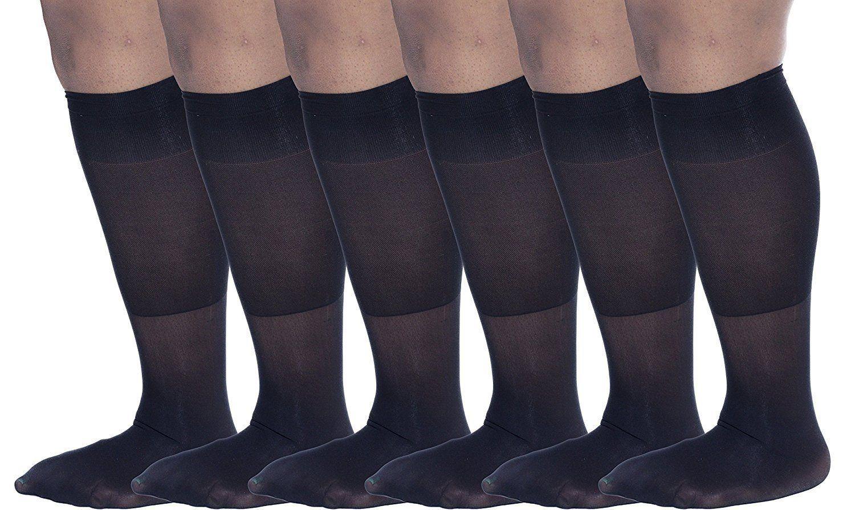 1a61f65443 Zaftig Womens Plus Size Opaque Nylon Trouser Socks
