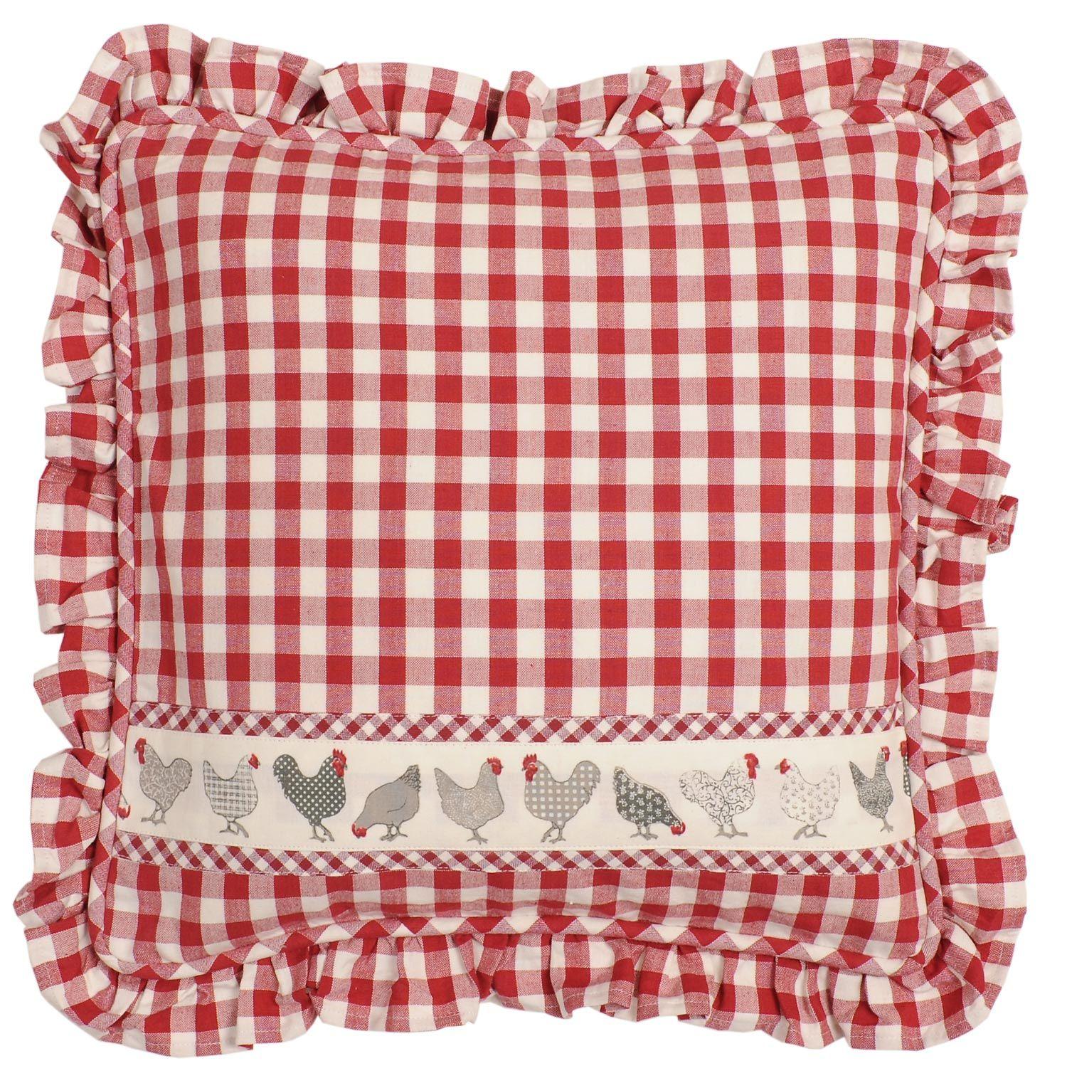 Cushion 40 40 Check Red Cena 400 Kc Nakupujte Na Www Almara Shop Cz Yastiklar Dekoratif Yastiklar Ve Kanaviceler