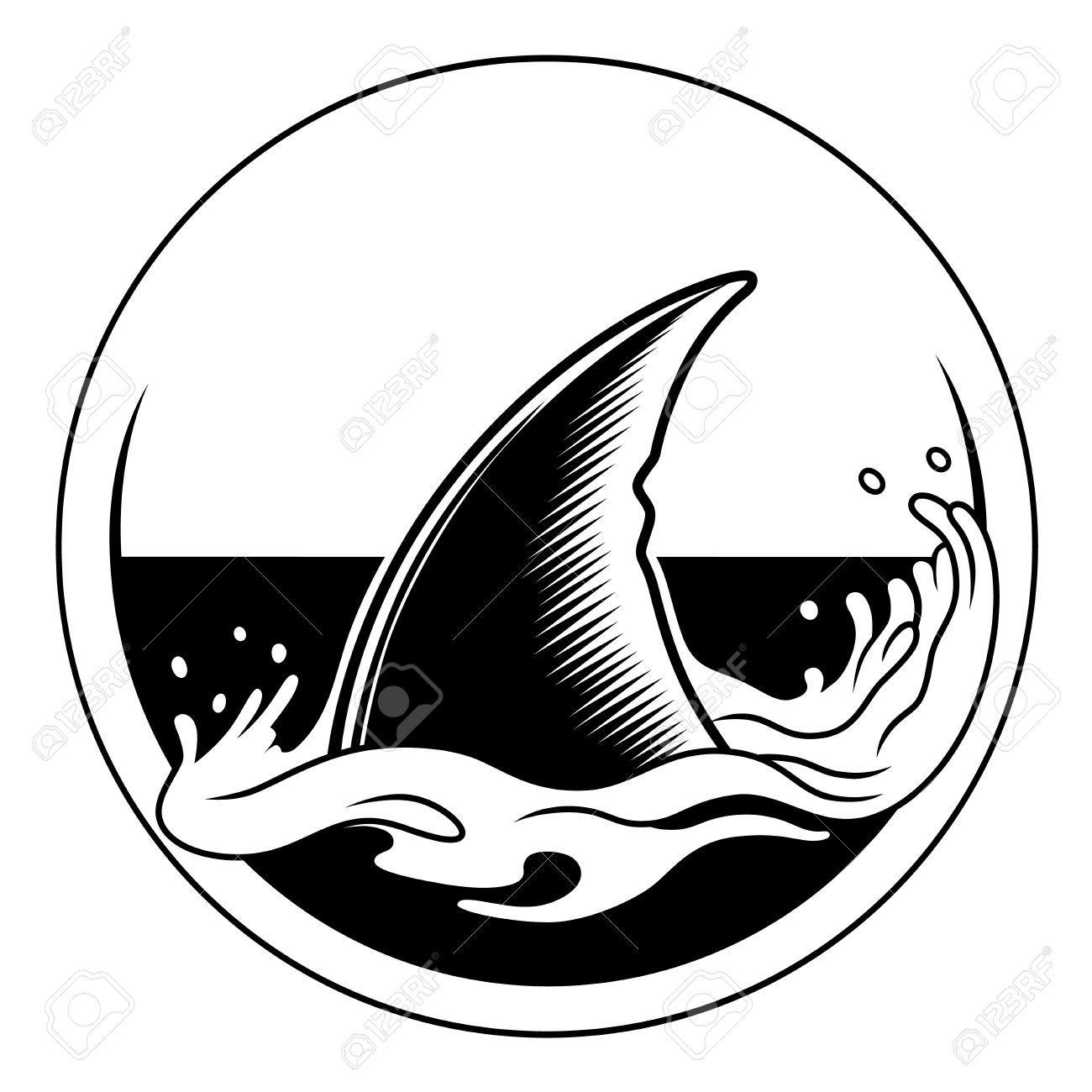 Stock Vector in 2020 Shark drawing, Shark, Illustration