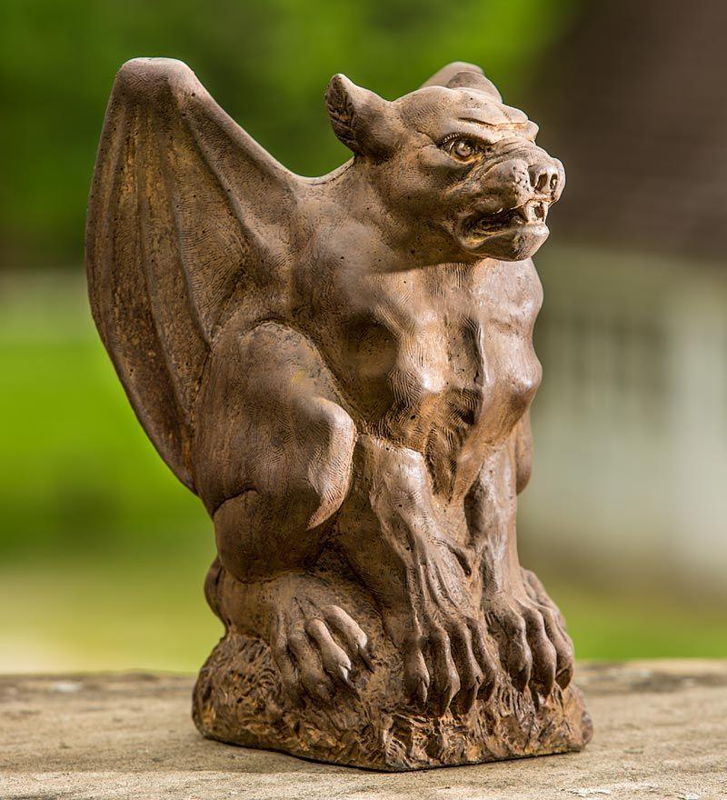Made In America Cast Stone Gunther Gargoyle Garden Statue