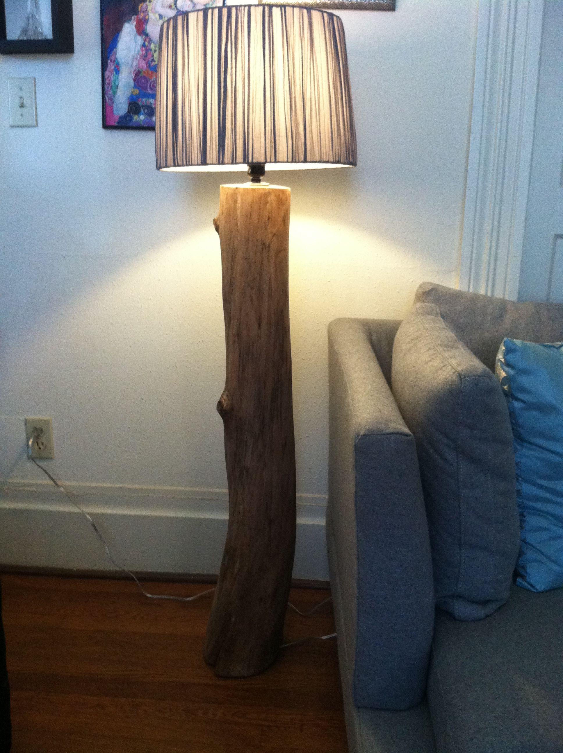 Eucalyptus Tree Branch Floor Lamp