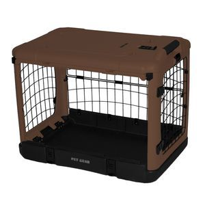Pet Gear The Other Door Steel Crate For Cats And Dogs, Chocolate.