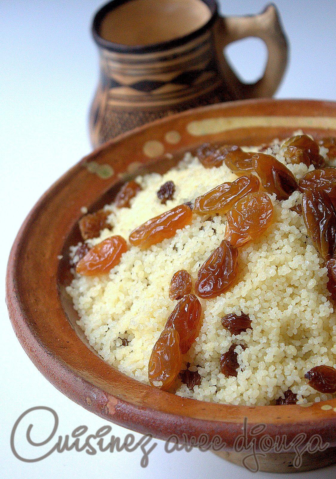 Mesfouf Algerien Couscous Aux Raisins Secs Recettes De Cuisine