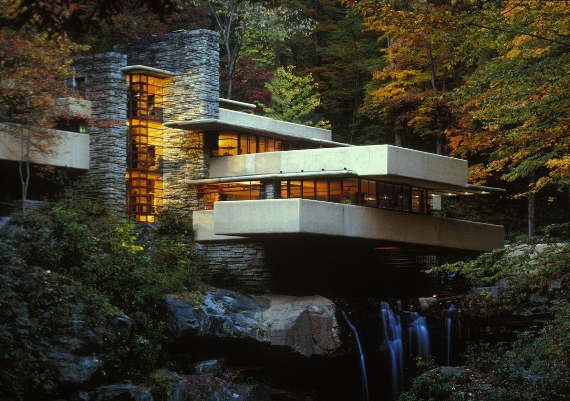 Kaufmann House Fallingwater  Frank Lloyd Wright  Design Elements of design e House styles