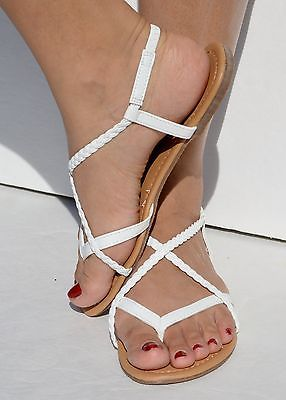 03a2b4004a983 Women s Braided Gladiator Flat Sandal Y-strap Thong Flip Flops Style   10