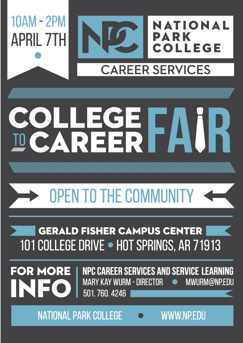 Job Fair Poster National Park College on Behance Job