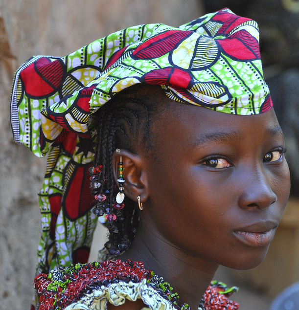 Woman in Burkina Faso, West Africa, in traditional