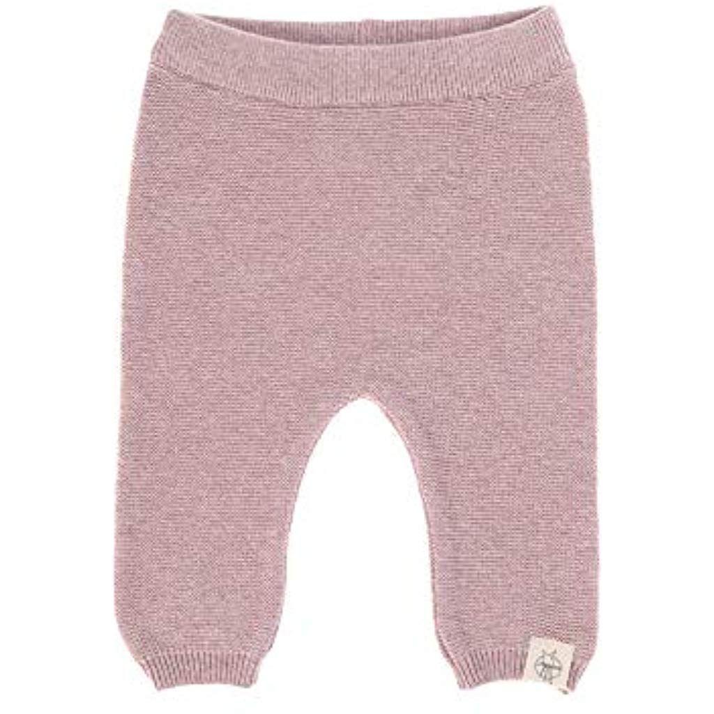 LÄSSIG Baby Hose - gestrickt GOTS Garden Explorer light pink Gr. 50-56 oder 0-2 Monate #Sport-Freize...