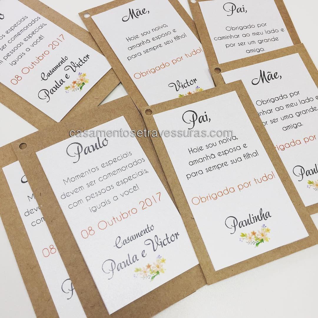 Tags Para Presentes De Padrinhos E Pais Casamento Da Paulinha