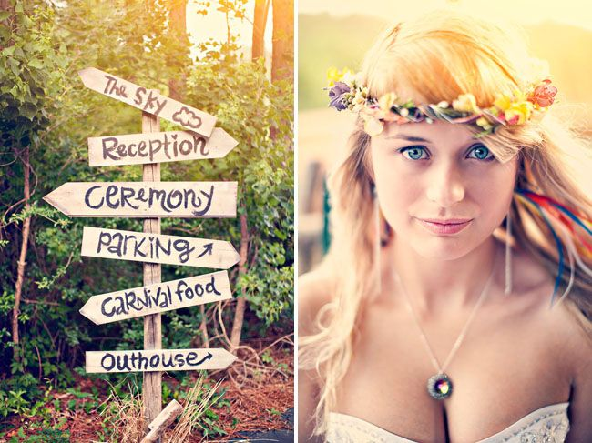 DIY Bohemian Rainbow Wedding