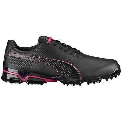 New Puma TitanTour Ignite Men's Golf Shoes Black/Beetroot Purple - 188656-08