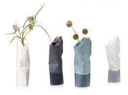Paper Vase Cover By Pepe Heykoop, Klein