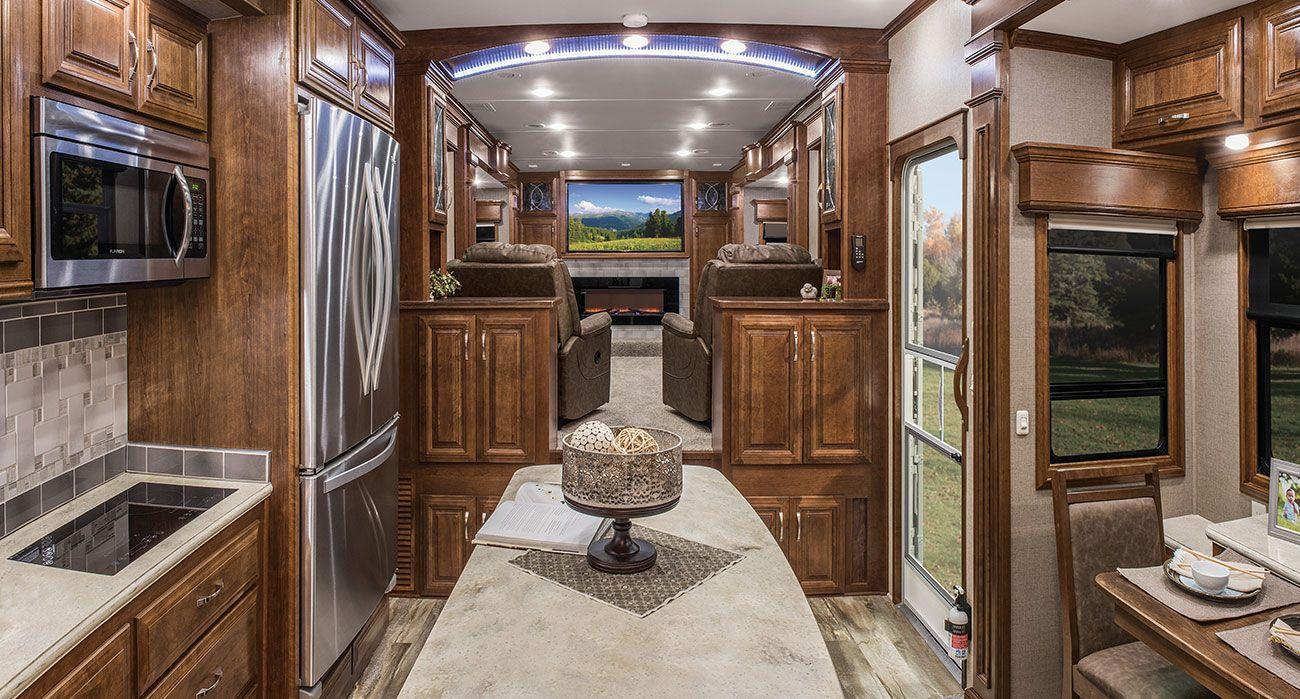 2017 Mobile Suites 44 Nashville Kitchen And Front Living Area