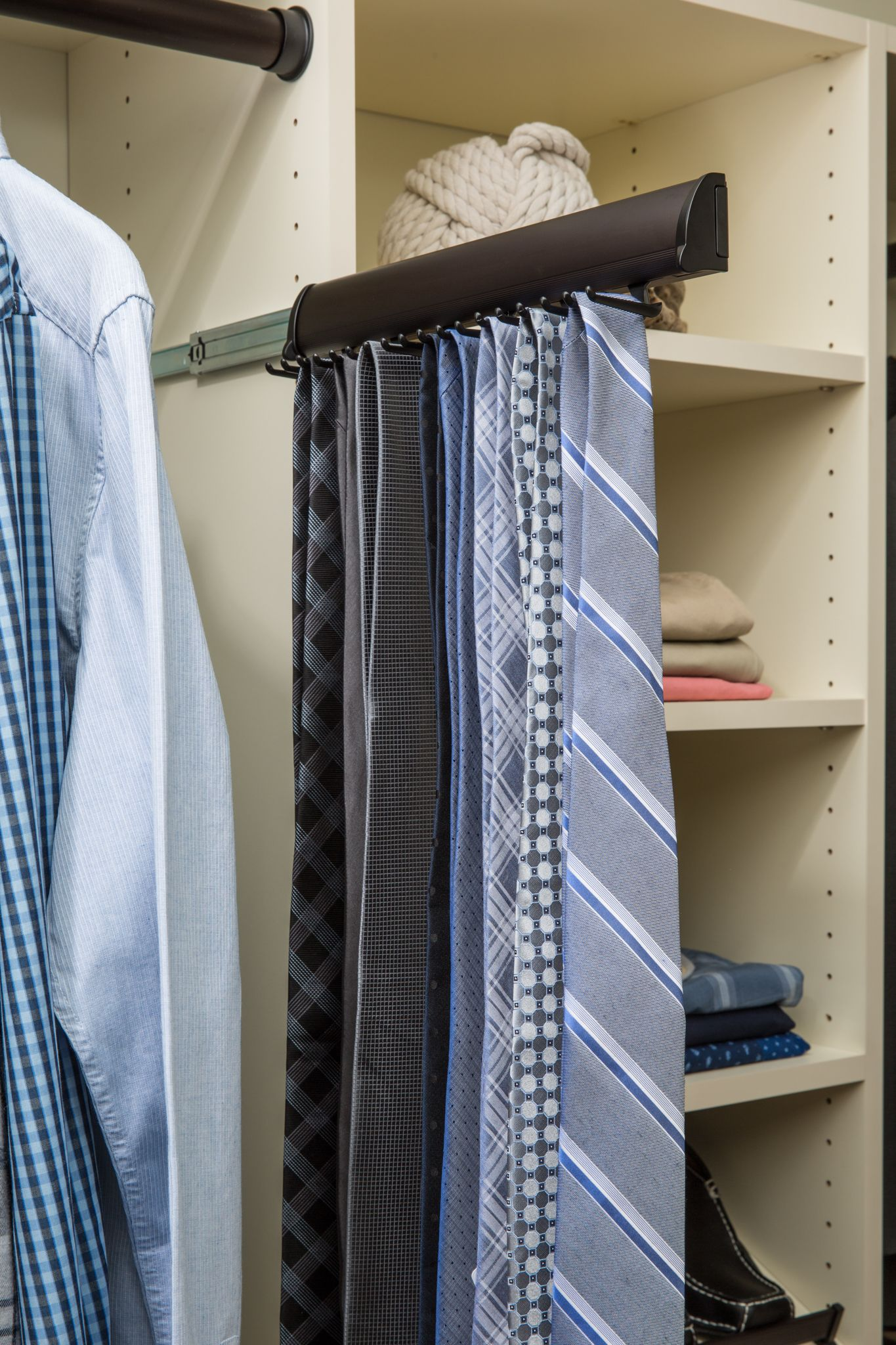 Slide Out Tie Rack Must Have For Lyle