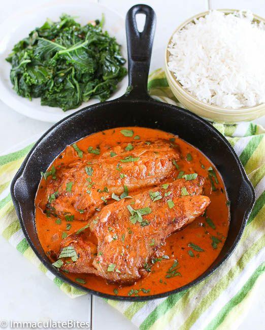 Red snapper in creamy sauce recipe tomato cream sauces for Snapper fish recipes