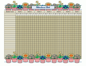 Sunday School Teacher Resume Attendance Sheet  Miscellaneous  Pinterest  Attendance Sheet .