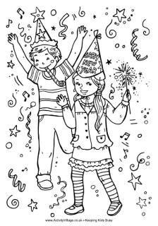 Nieuwjaar Kleurplaat Kinderen Oud En Nieuw Vieren Kleurplaten