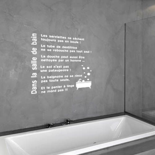 Bathroom Wall Decal - Relax Quote - Bathroom Sticker - Bath Wall Art - Stratifie Mural Salle De Bain