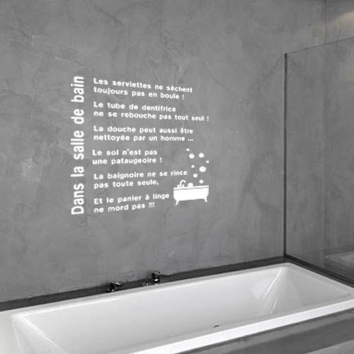 Sticker texte salle de bain sdb0021 a acheter pinterest for Acheter salle de bain