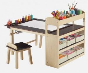 Fully Equipped Drawing Table for Kids - Deluxe Art Center Table