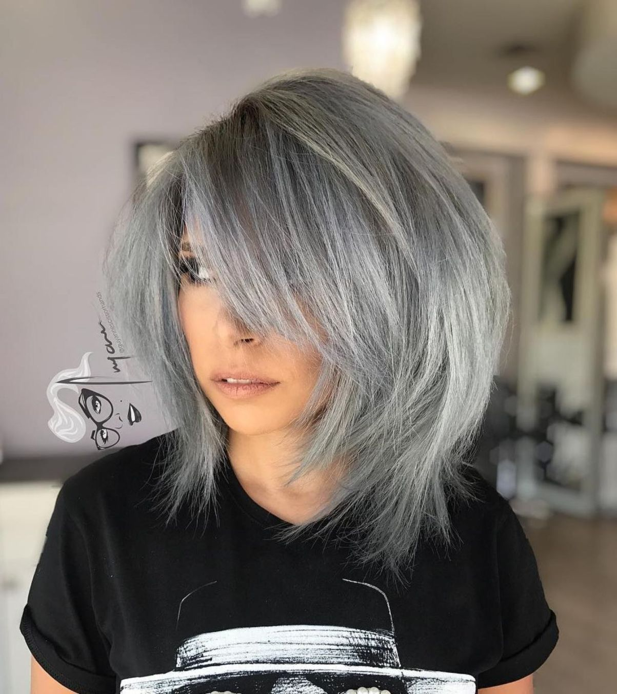 15++ Short hairstyles with bangs for thick hair inspirations