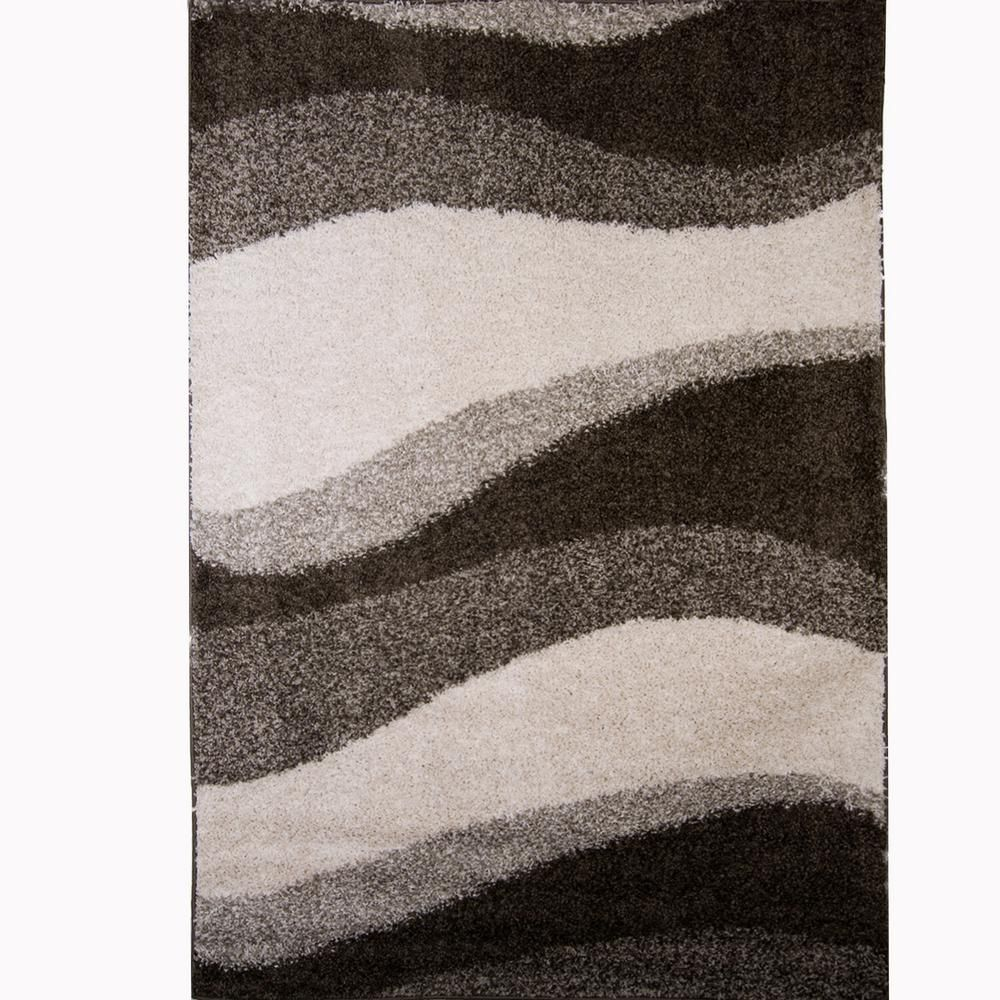 Nicole Miller Synergy Gray Off White 8 Ft X 10 Ft Indoor Area