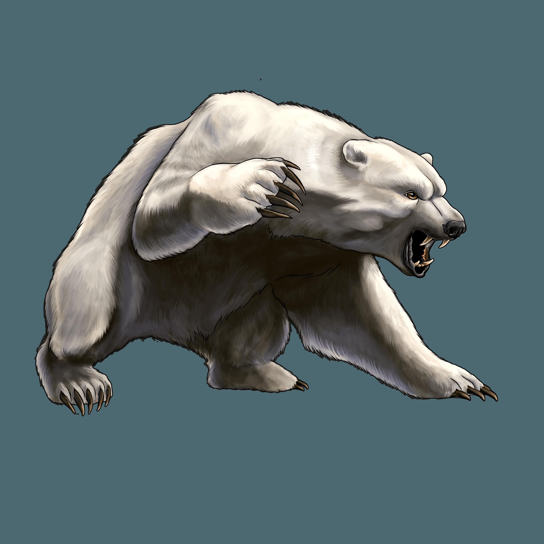 White Angry Bear Png Image Png Image Polar Bear Art Polar Bear Tattoo Angry Bear
