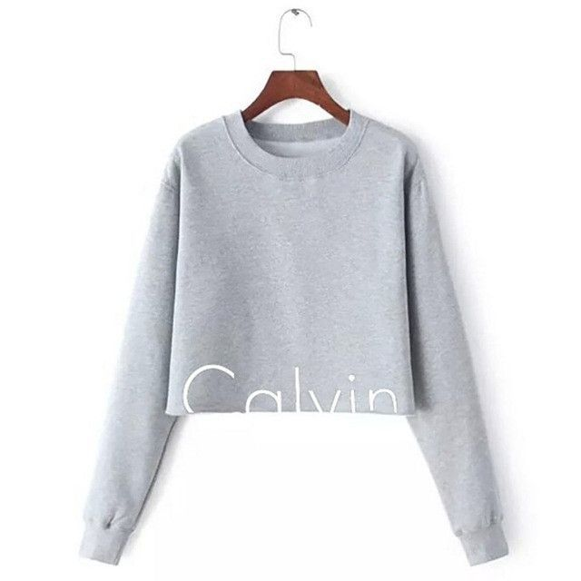 Autumn 2017 Short Cropped Sweatshirt Casual Slim Letter Print Women Hoodies  Sweatshirts Costumes Black Gray | Products | Pinterest | Products