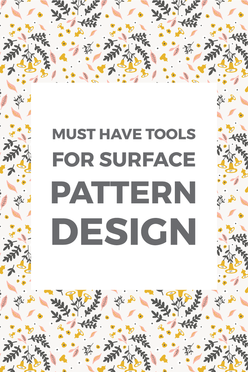 I often get asked about the tools I use for my patterns. These 7 must-have pattern design tools will help you create beautiful patterns and illustrations. #flowerpatterndesign