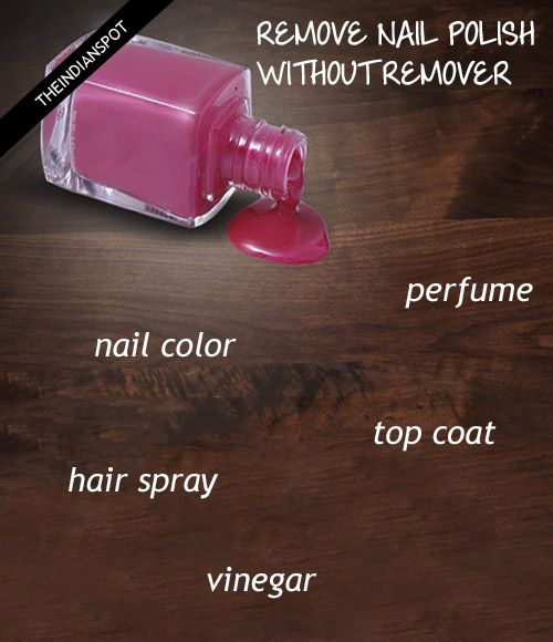 7 Best Ways to Remove Nail Polish Without Remover | Remove ...