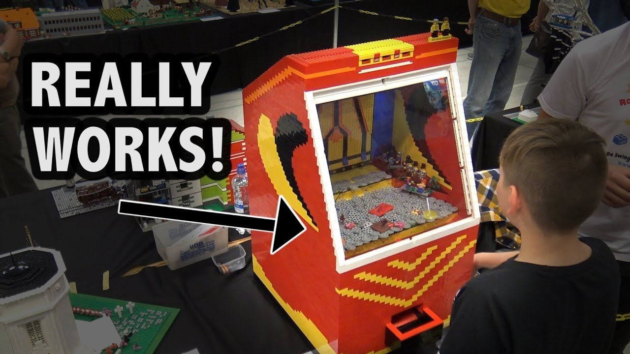 Motorized Lego Coin Pusher Carnival Game Carnival Games