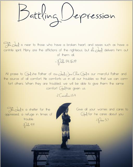 Encouraging Scriptures for Battling Depression (free printable ...