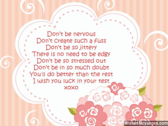 Exam best wishes poem good luck for test Good luck for exams - Exam Best Wishes Cards