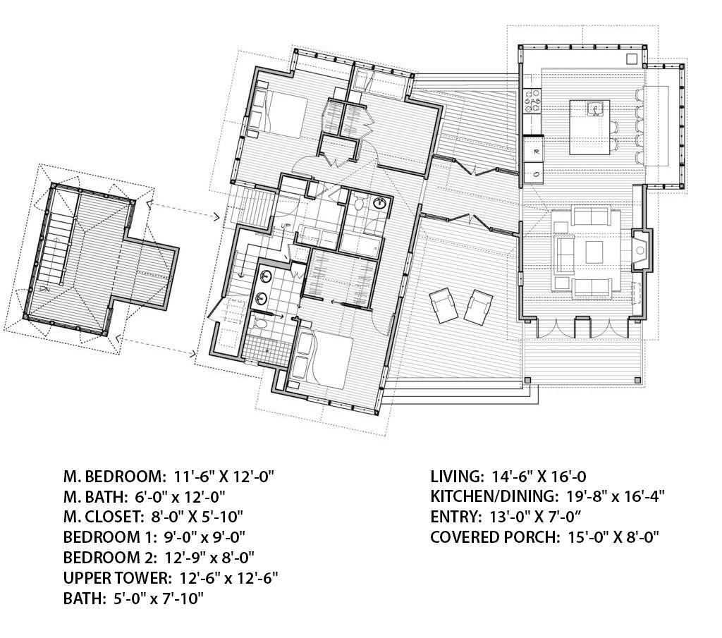 beach style house plan 4 beds 2 baths 1848 sqft plan 479 - Beach House Plans With Tower