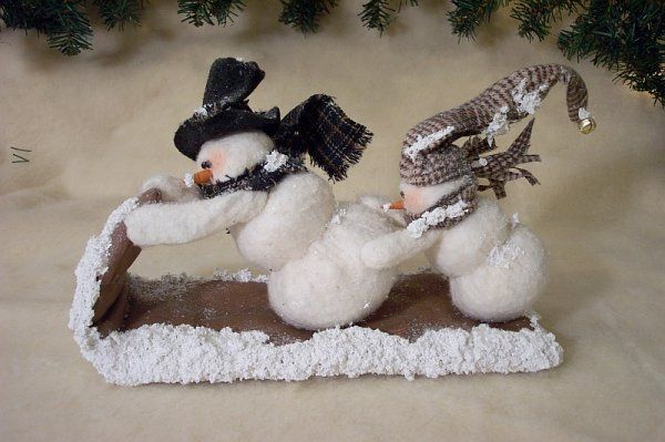 Hold On Tight snowman on sled (305) $6.51